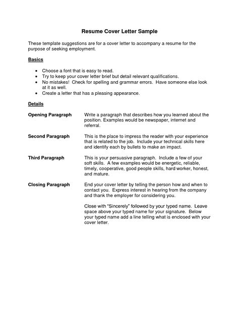 Cover Letter Resume Best Templatesimple Cover Letter Application Letter Sle Cover Latter Free Resume Cover Letter Template