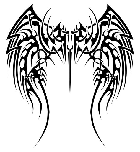 angel wing tribal tattoos angelic tribal wings by insomnia maniac on deviantart