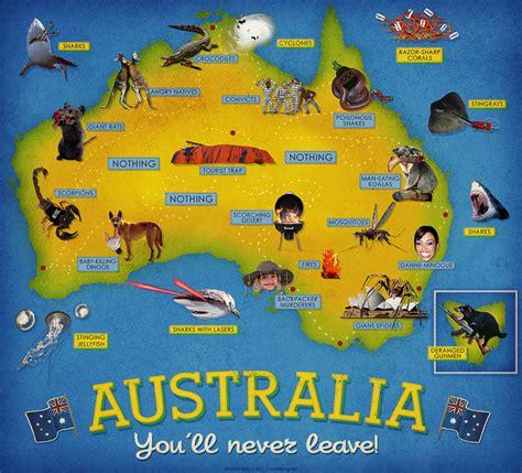 australia tourist map australia map