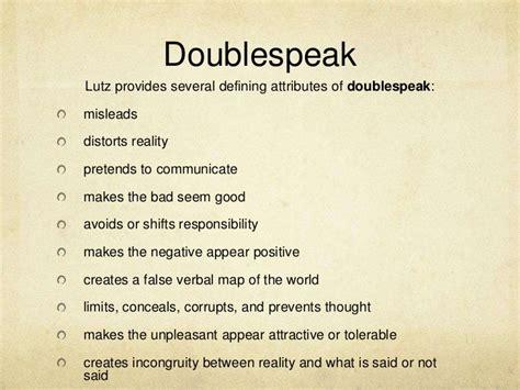Doublespeak Essay by World Doublespeak William Lutz Essay Definition Essay For You