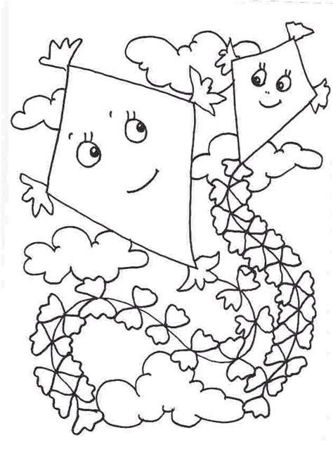 coloring page kite kite coloring pages coloringpagesabc
