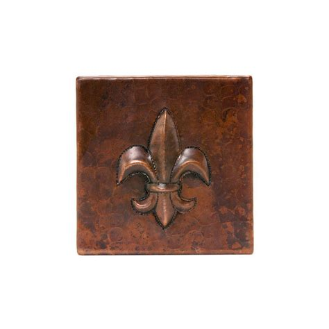 premier copper products 4 in x 4 in hammered copper