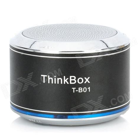 buy thinkbox t b01 bluetooth v2 1 edr speaker w microphone black silver