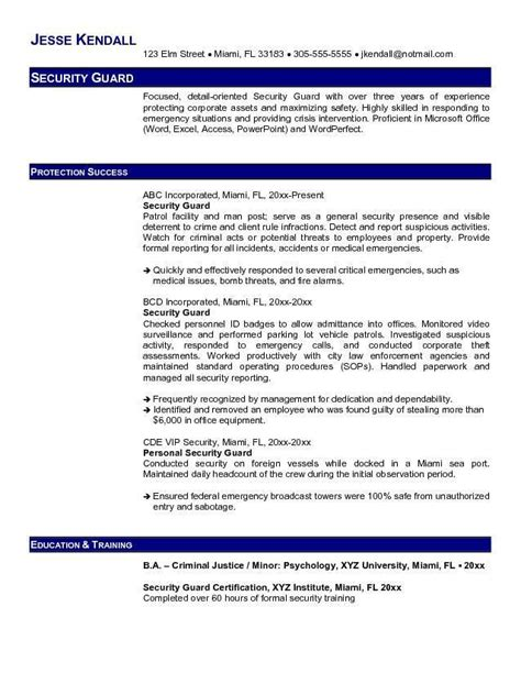 Security Guard Resume Sles In Canada 25 Best Ideas About Officer Resume On Navy Quotes