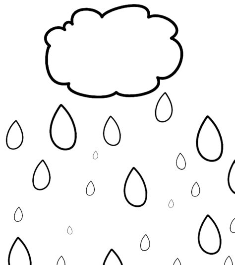 raindrops coloring page raindrop template printable clipart best