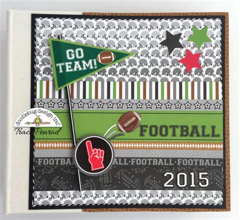 doodlebug albums doodlebug design inc touchdown collection go team
