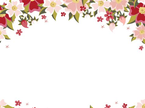 Floral Design Backgrounds Presnetation Ppt Backgrounds Flowers Powerpoint Template