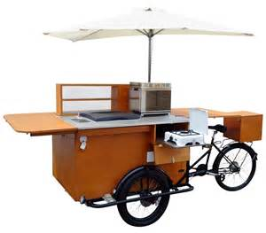 Wooden Work Bench Street Food Carts On Bike Tricycles Catalog Trailer Kiosks
