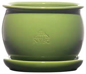 large glazed pot in green contemporary indoor pots and