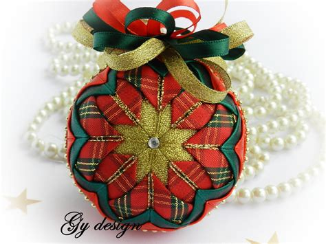 scottish christmas ornament xmas ornament quilted ornaments