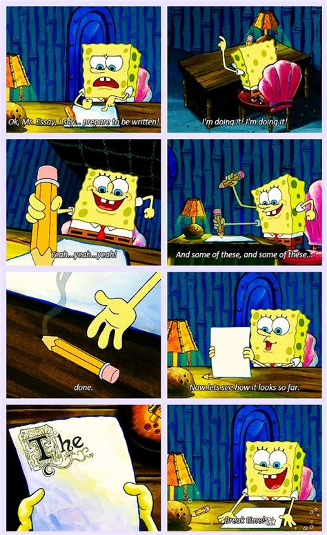 spongebob writing paper spongebob writing essays spongebob xd
