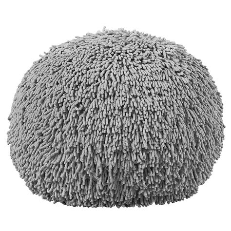 shaggy pouf ottoman shaggy pouf grey grey and poufs