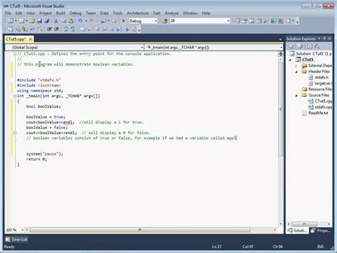 tutorial in c c tutorial 5 boolean variable introduction youtube