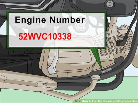 Toyota Engine Number Lookup 3 Ways To Find The Chassis And Engine Number Wikihow