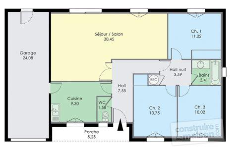Plan Pavillon 100m2 by Plan Maison Plein Pied Var