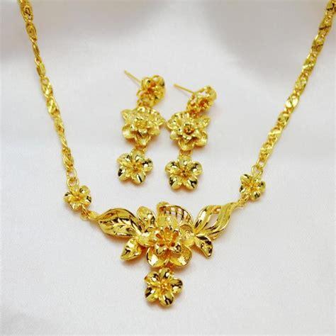 Xuping Set Hk 2018 fashion jewelry wedding set 24k yellow gold
