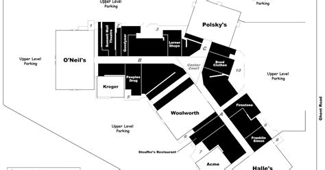 layout of summit mall mall hall of fame
