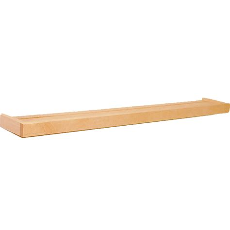 Wood Ledge Shelf by Floating Wood Shelf With Ledge 24 Inch In Wall Mounted Shelves