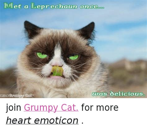 grumpy cat joins cats on et a leprechaun oro ce was oelicious o2013 grumpy cat join