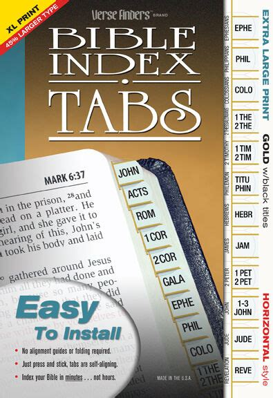 extra large print gold bible book labels index tabs long lasting ez  install ebay