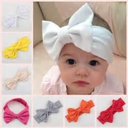 baby infant bow headbands cotton headband children hair accessories newborn