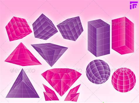 templates for geometric shapes 3d geometric shapes 15 free psd eps format download