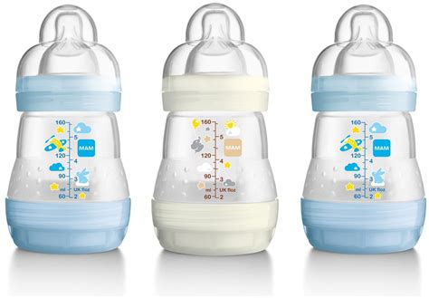Mam Bottle 160ml mam anti colic bottle 160ml 3pk boy buy mam anti colic