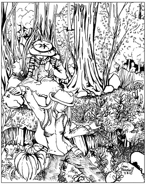 jungle landscape coloring pages lost in forest jungle forest coloring pages for
