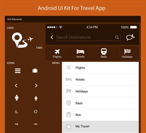 android ui themes download android ui kit for travel app