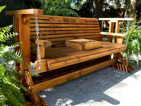 ft handmade southern style wood porch gliderpatio glider
