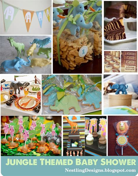 Jungle Theme Baby Shower by Nestling Inspired Jungle Themed Baby Shower And Sneak Peak