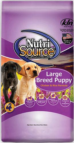 nutrisource large breed puppy nutrisource chicken rice large breed puppy food 30 lb at menards 174