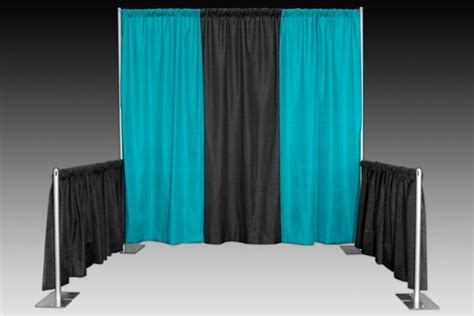 trade show drapes and pipes banjo cloth drapes for event booth o2 business ideas