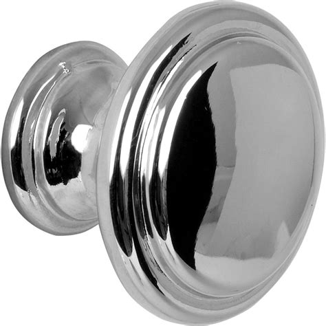 flat knob polished chrome toolstation