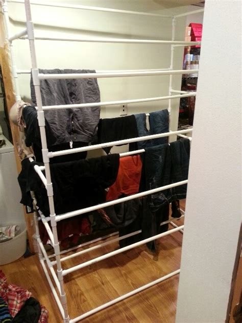 large pvc pipe laundry drying rack boyfriend made had