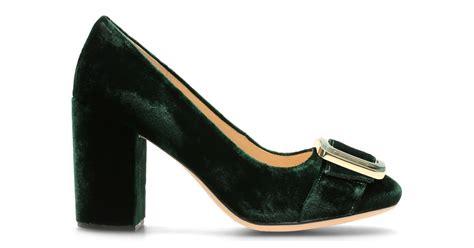 Clarks Velvet Joffie Bag by Amabel Emerald Velvet Clarks