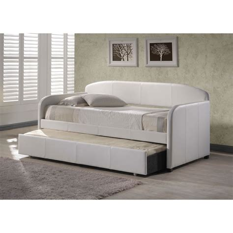 leather day bed furniture white leather daybeds with trundle having grey