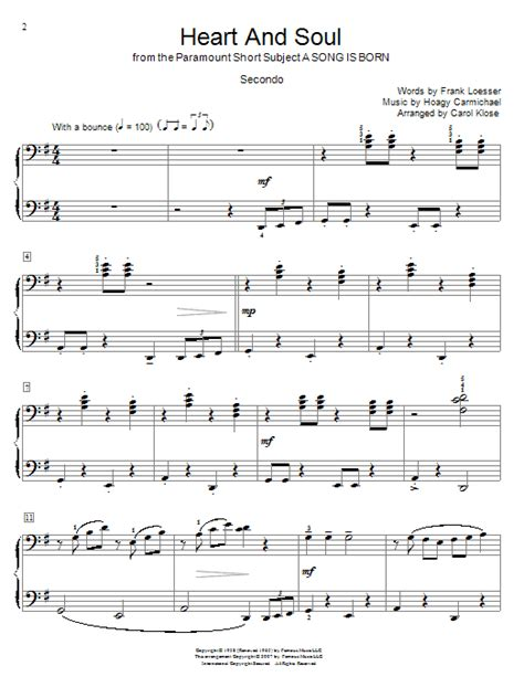 song duet and soul sheet by hoagy carmichael piano duet