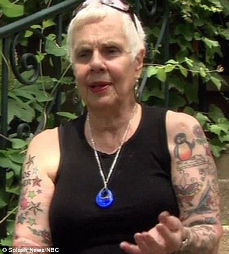 tattooed granny helen the tattooed has been inked more than 50