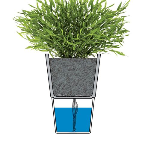 Planter Watering System top3 by design flowerpot chalk white 13cm