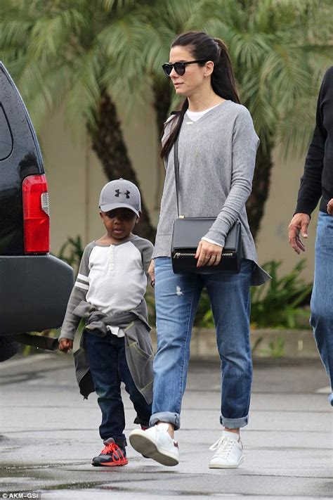 sandra bullock son sandra bullock hits bowling alley with son louis sandra