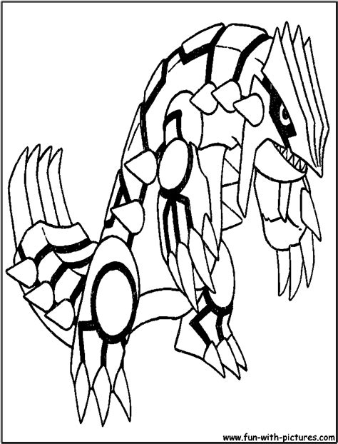 groudon pokemon coloring pages images