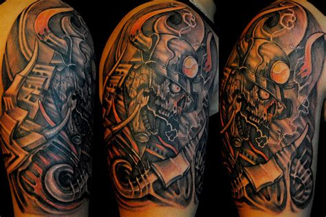 biomechanical half sleeve tattoo designs half sleeve biomechanical designs tattoos book
