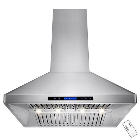 36 stainless steel akdy 36 in kitchen island mount range hood in stainless