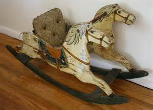 Lane Furniture End Tables Antique Rocking Horse 2 Picked Vintage