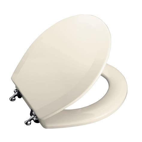 toilet seat hinges kohler kohler triko molded toilet seat closed front with