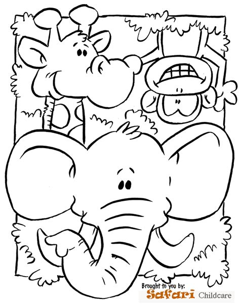 Safari Animals Coloring Pages Preschool | safari animals coloring pages