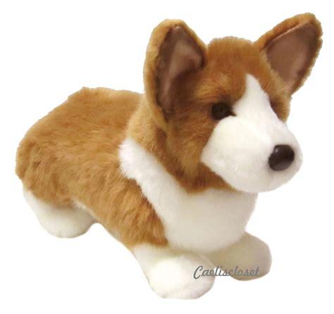 plush puppy douglas ingrid corgi 14 quot plush stuffed animal puppy cuddle new ebay