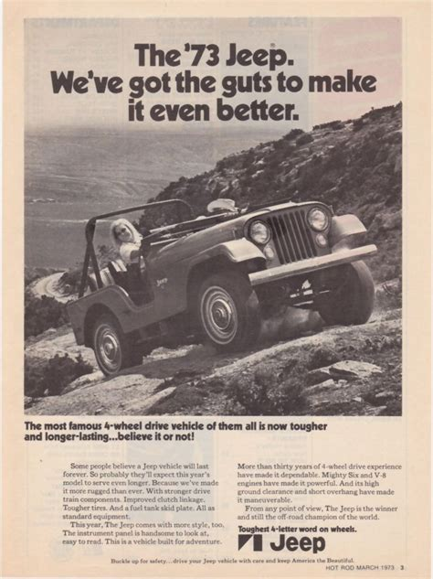vintage jeep ad 40 best jeep ads 1970s images on pinterest jeep truck