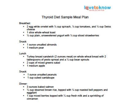 printable diet plan for hypothyroidism thyroid diet lovetoknow